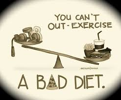 a healthy diet is more important than any amount of exercise you ...